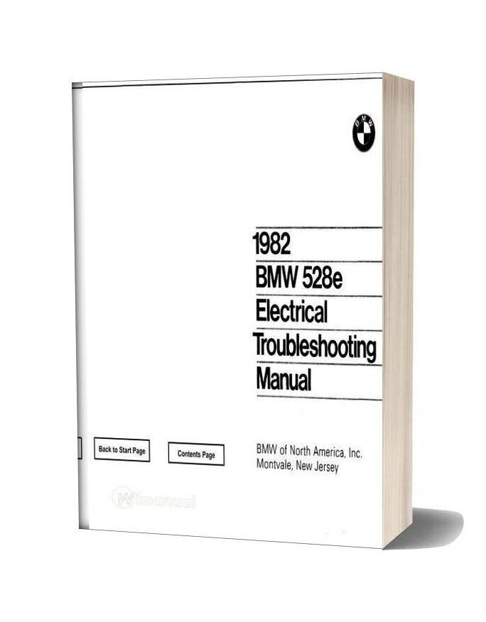 1982 Bmw 528e Electrical Troubleshooting Manual