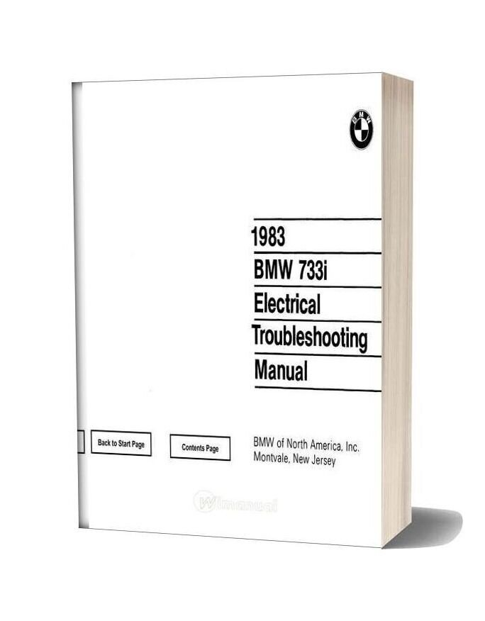 1983 Bmw 735i Electrical Troubleshooting Manual