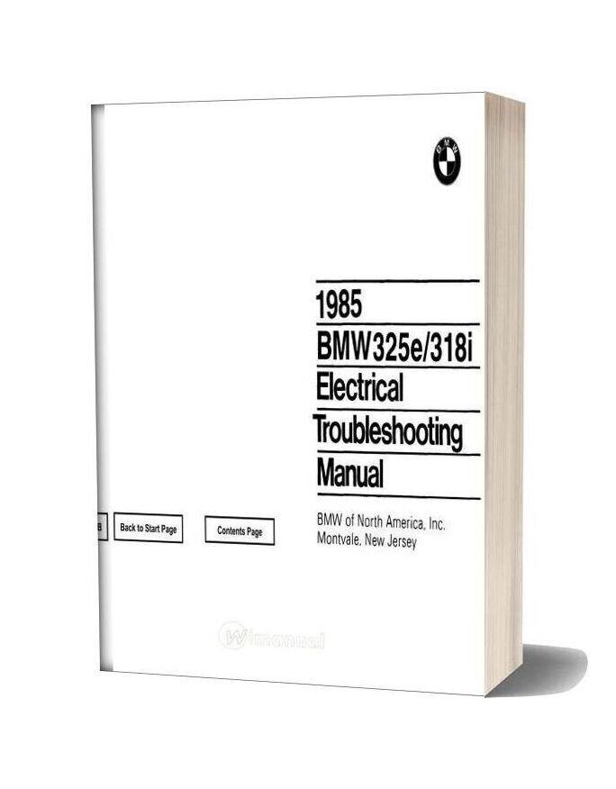 1985 Bmw 318i 325e Electrical Troubleshooting Manual