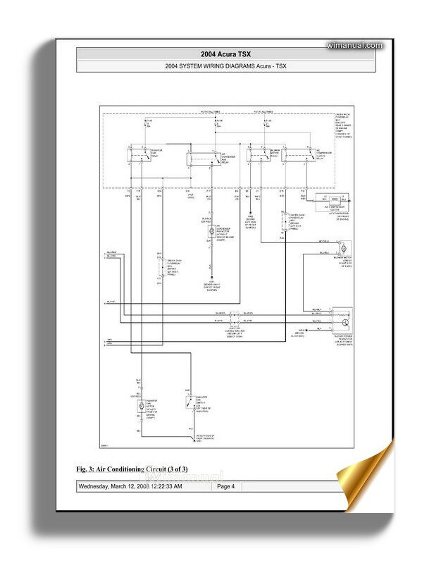 Acura Tsx 2003 2008 System Wiring Diagrams