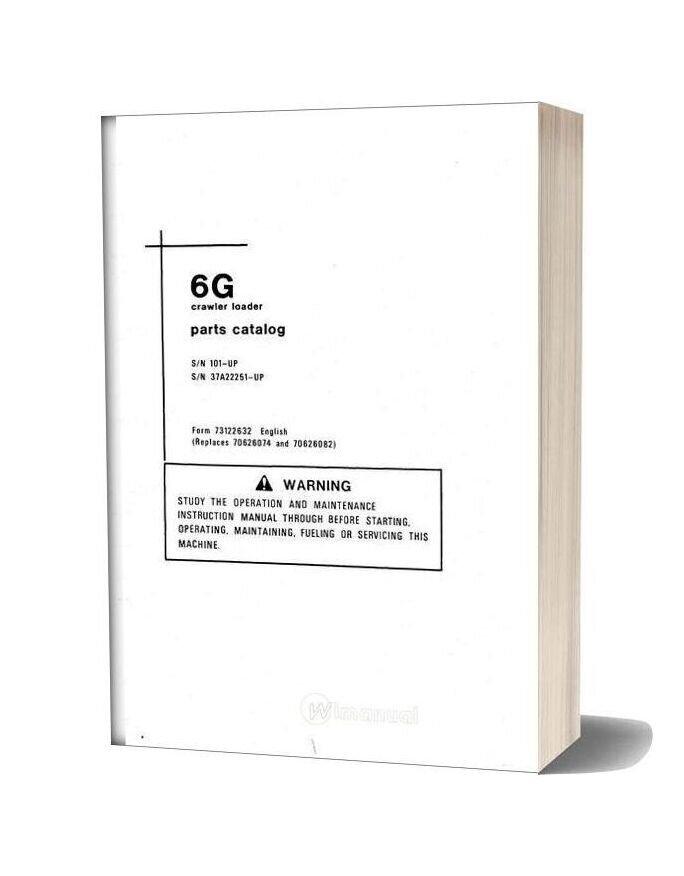Allis Chalmers 6g Crawler Loader Parts Catalog