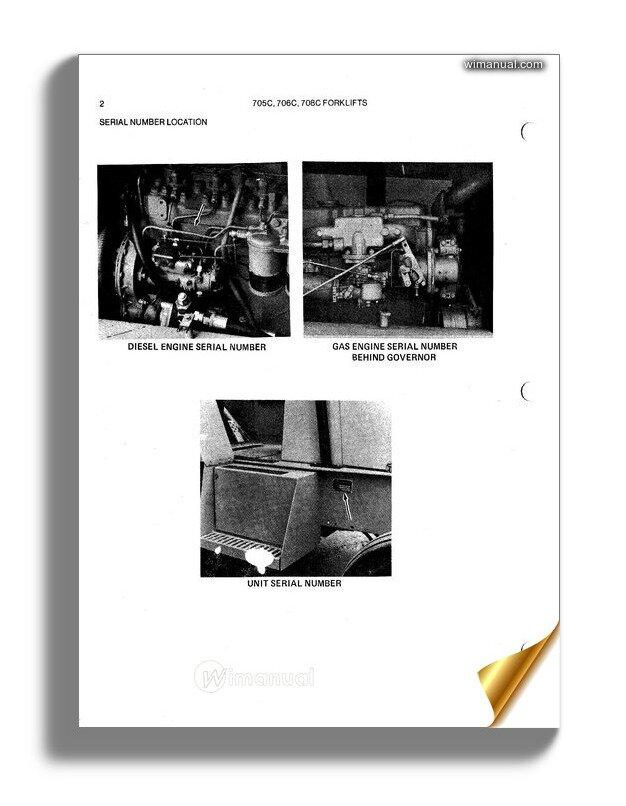 Allis Chalmers 705c 706c 708c Forklift Parts Catalog