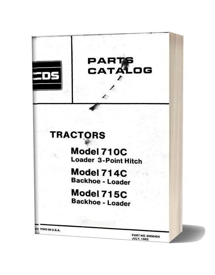 Allis Chalmers 710c 714c 715c Loader Backhoe Parts Catalog