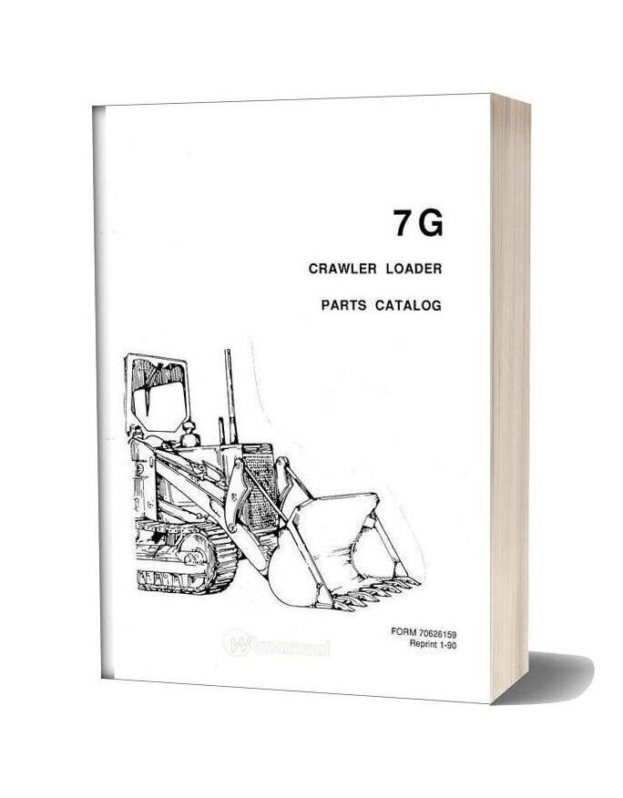 Allis Chalmers 7g Crawler Loader Parts Catalog