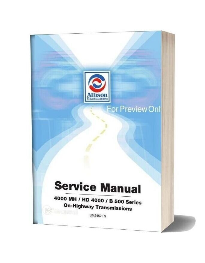 Allison Transmission Sm2457en 2001 Service Manual