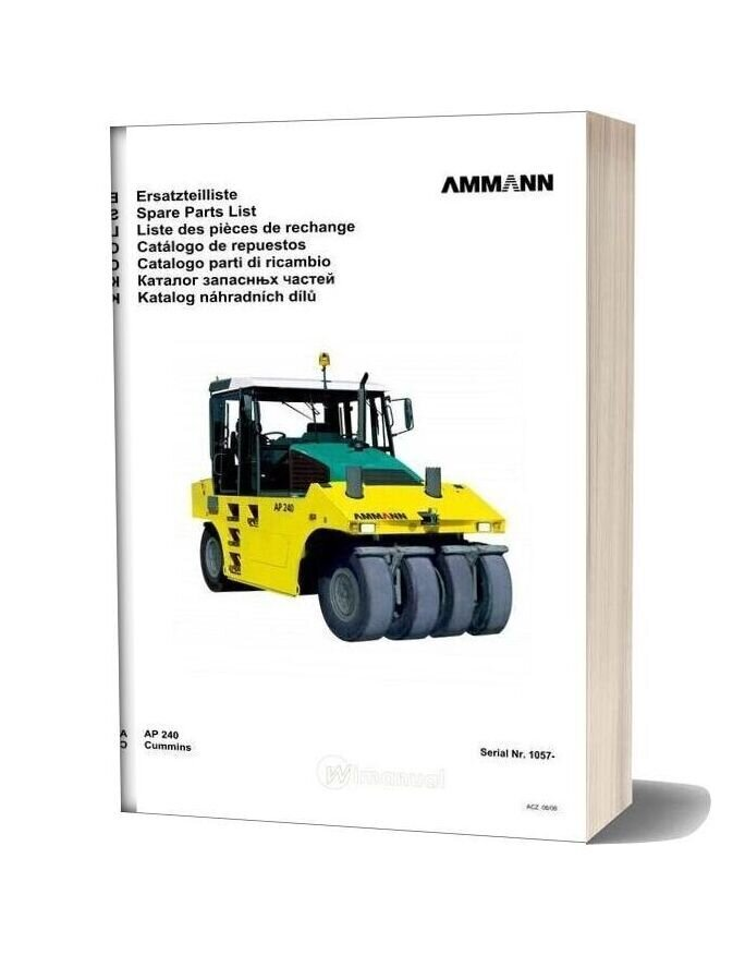 Ammann 0606 Ap240 Parts Catalogue