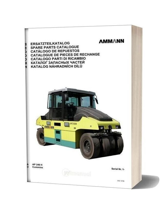 Ammann 0607 Ap240h Parts Catalogue