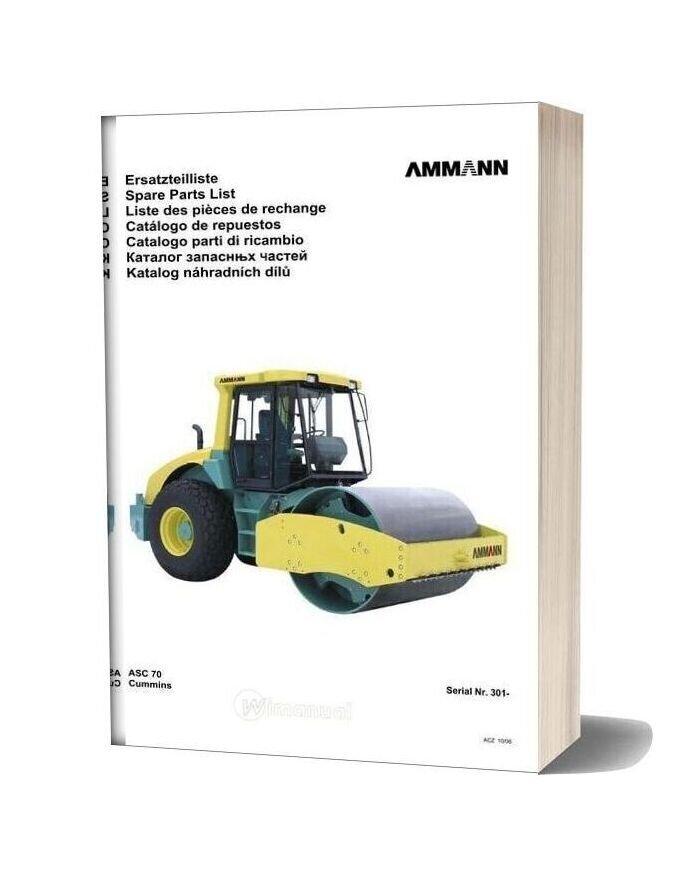Ammann 0610 Asc70 Parts Catalogue