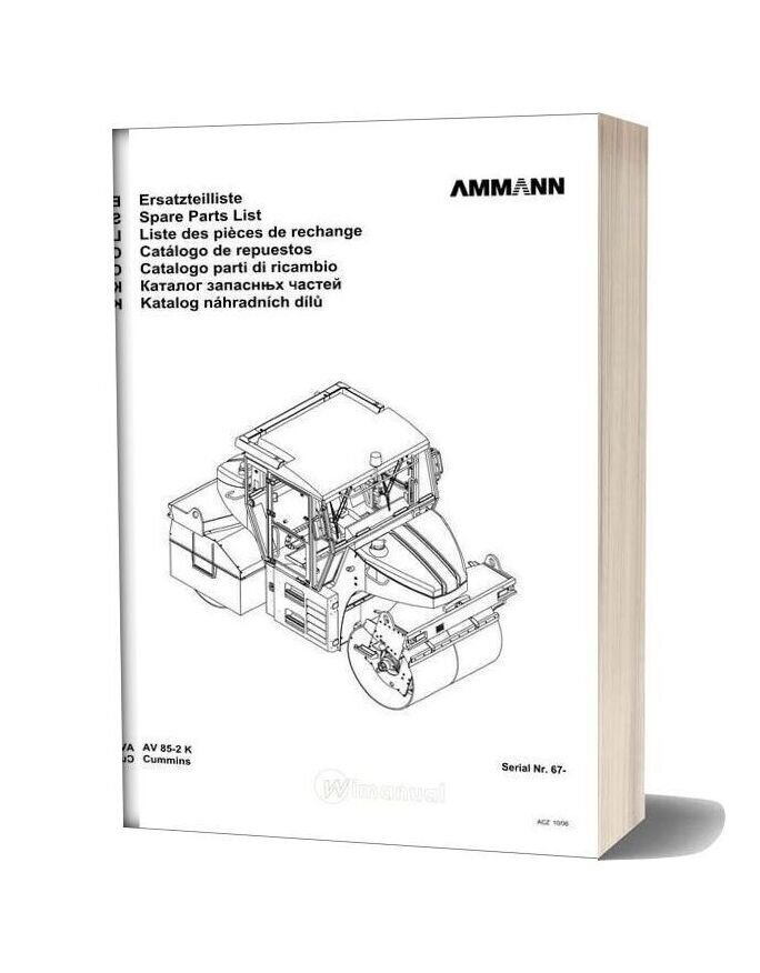 Ammann 0610 Av85 2 K Parts Catalogue