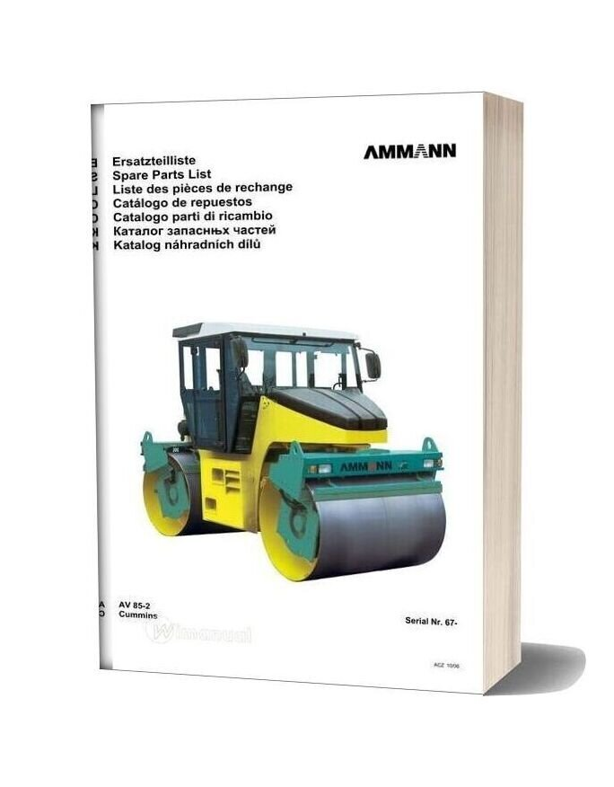 Ammann 0610 Av85 2 Parts Catalogue