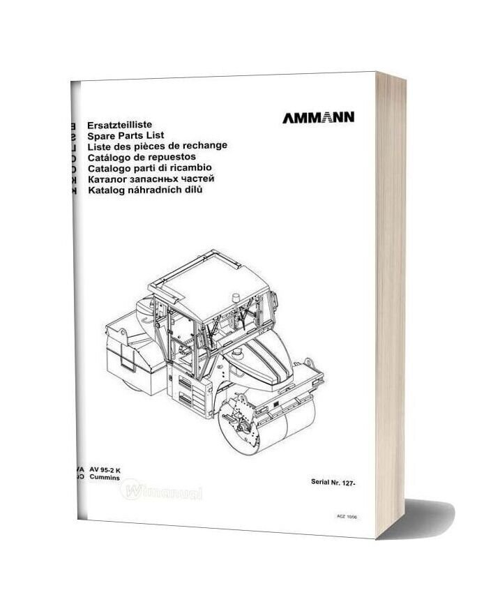 Ammann 0610 Av95 2 K Parts Catalogue