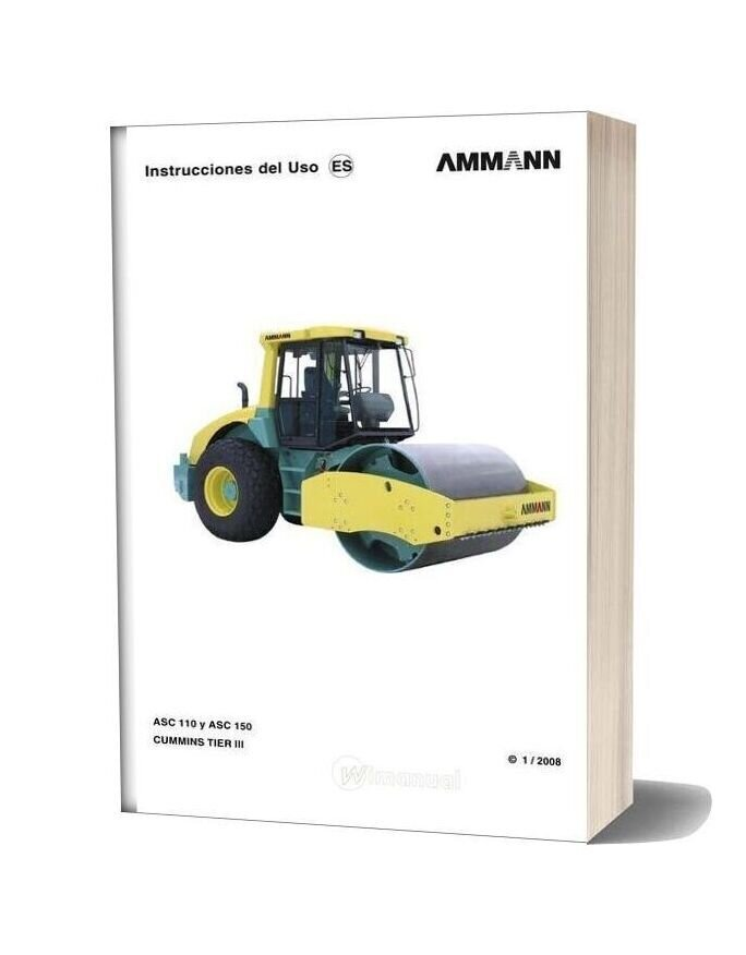 Ammann Asc 110 Y Asc 150 Cummin Tier Ii Operation Manual