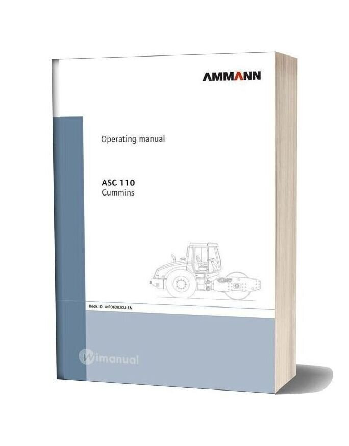 Ammann Asc110 Operating Specification Maintenance Manual