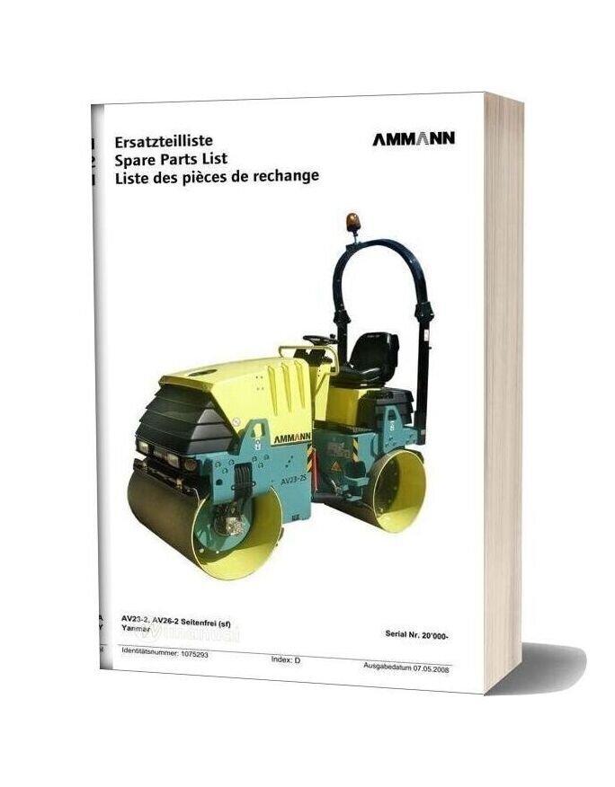 Ammann Av23 2 Av26 2 Spare Parts List