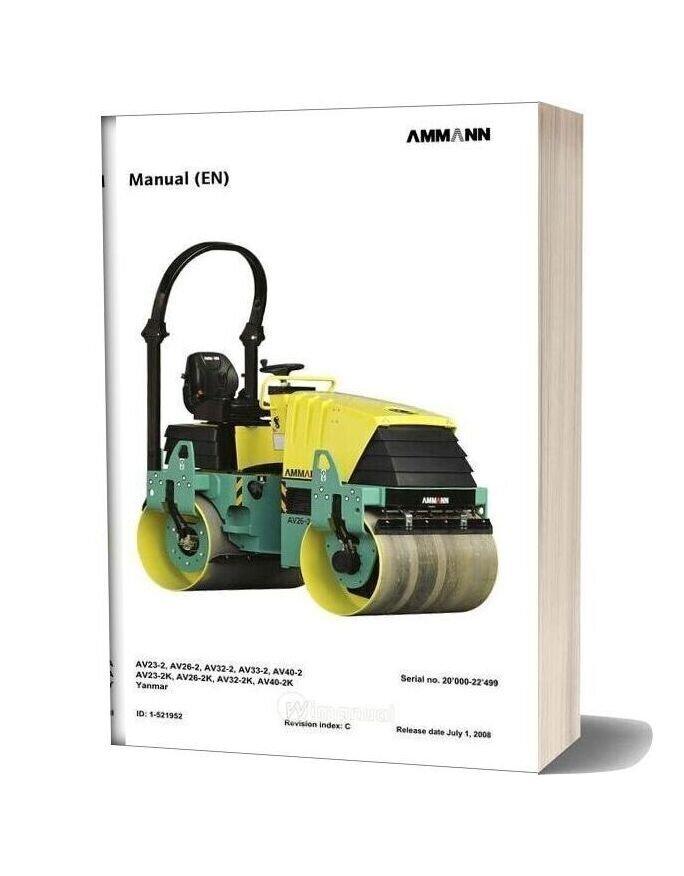 Ammann Avp06td Ba Av2 2 20000 22499 080701 En Operation Manual