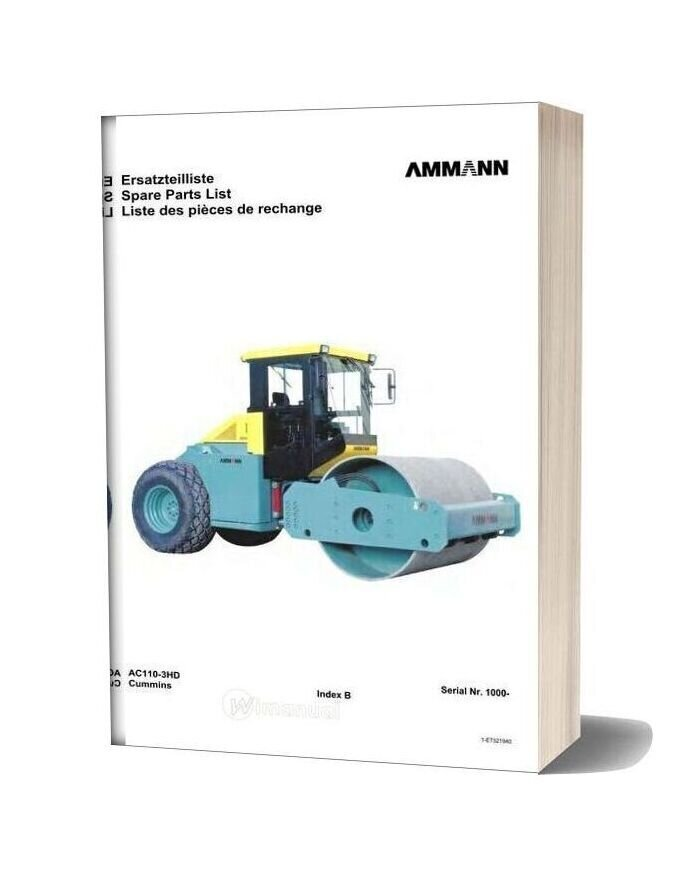 Ammann Avp07sc Ac110 3hd 1000 080407 Ml En Parts Catalogue