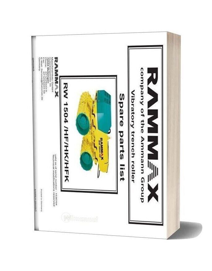 Ammann Avp07tr Rw1504 071231 En En Parts Catalogue