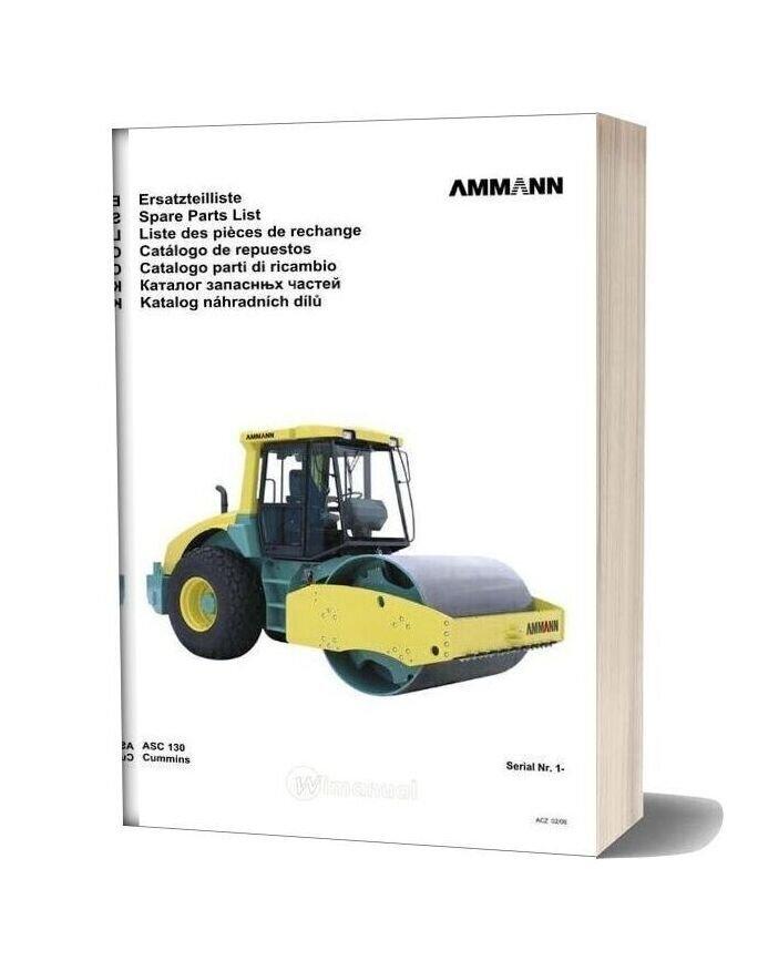 Ammann V0602 Asc130 Parts Catalogue