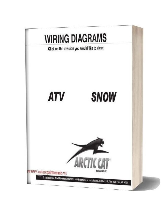 Arctic Cat 2000 Thru 2009 Atv And Snowmobilesnow Wiring Diagrams