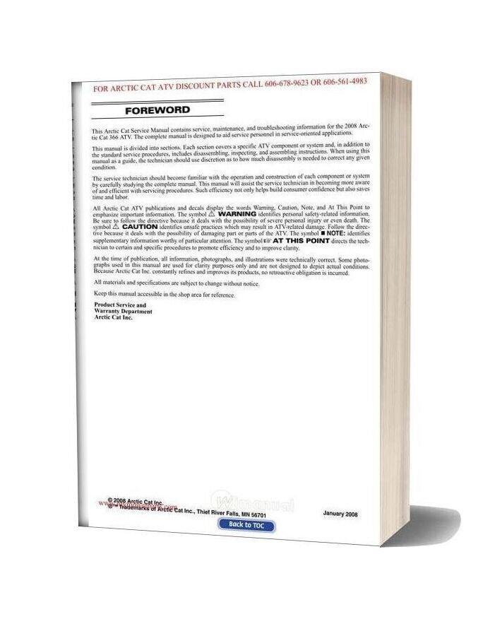 Arctic Cat 2008 366 Service Manual-15c10309