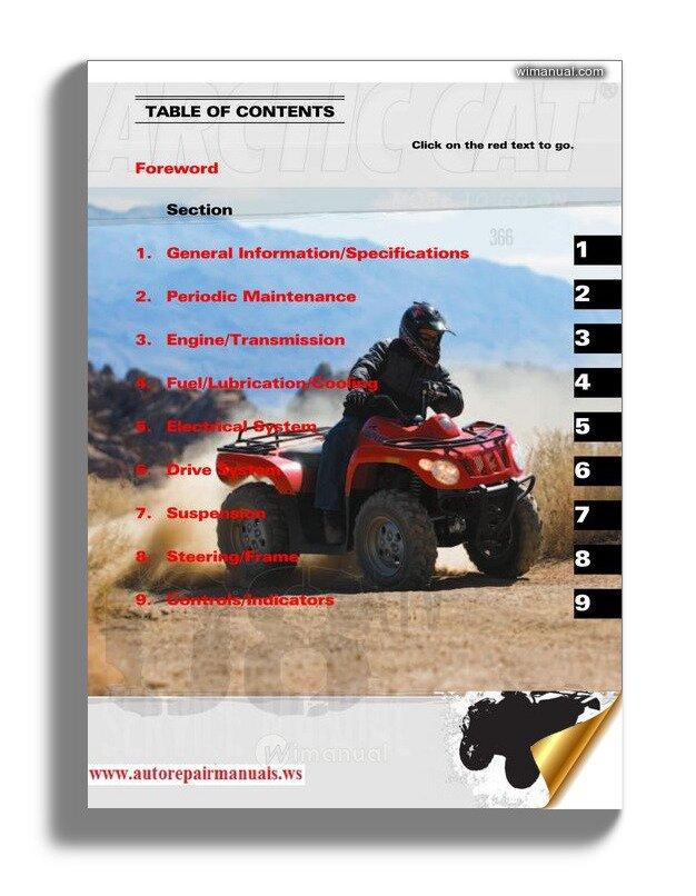 Arctic Cat 2008 366 Service Manual