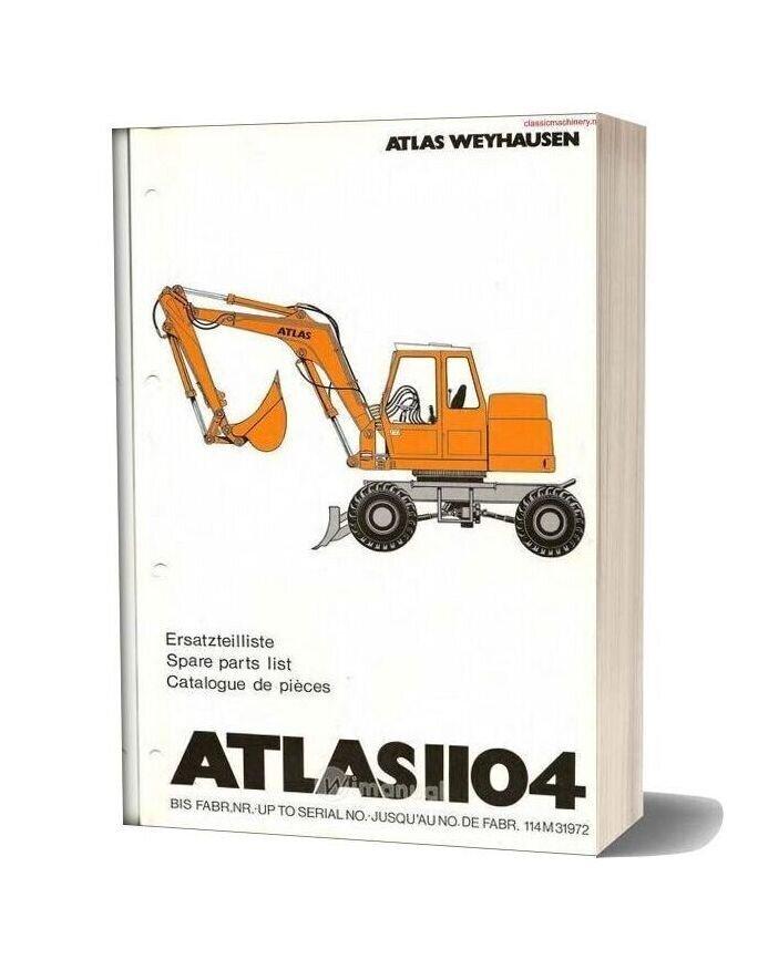 Atlas 1104 Spare Parts List
