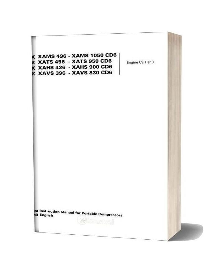 atlas copco wiring schematic atlas copco xams496 1050 cd6 instruction manual  xams496 1050 cd6 instruction manual