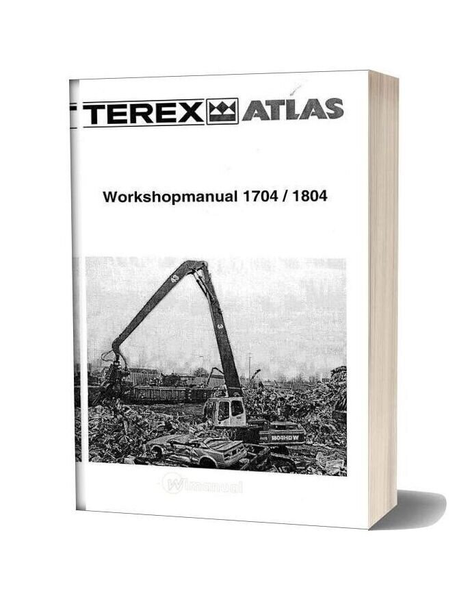 Atlas Terex 1704 1804 Workshop Manual