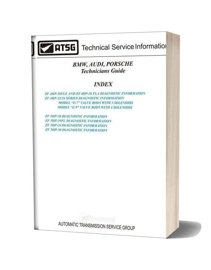Atsg Transmission 4hp18 22 24 Technical Service