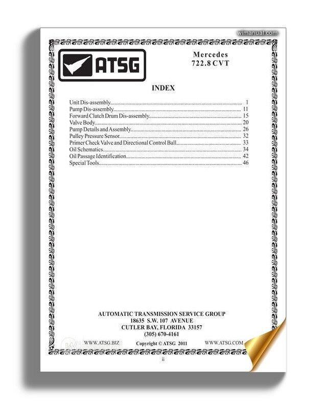 Atsg Transmission 722 8tg Technical Service