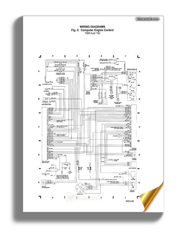 Audi 100 1989 Wiring Diagram