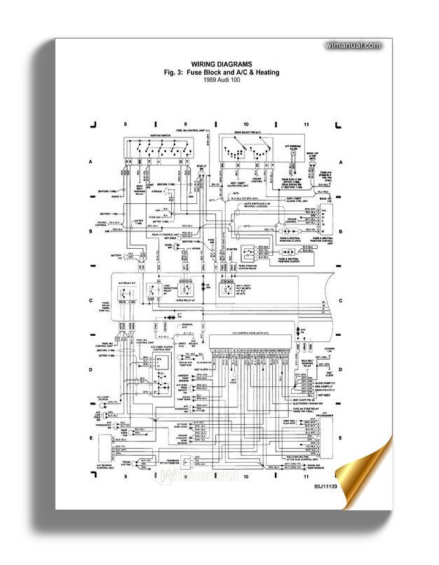 Audi 100 1989 Wiring Diagram