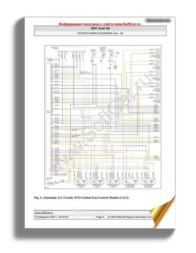 audi a6 2001 wiring diagram  wimanual