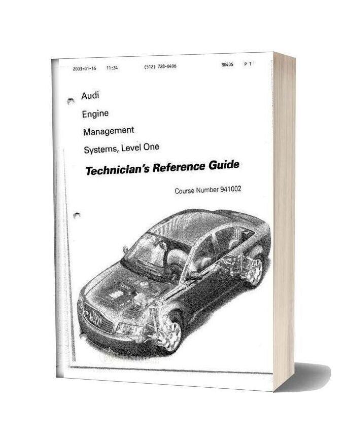 Audi Factory Manual 18t