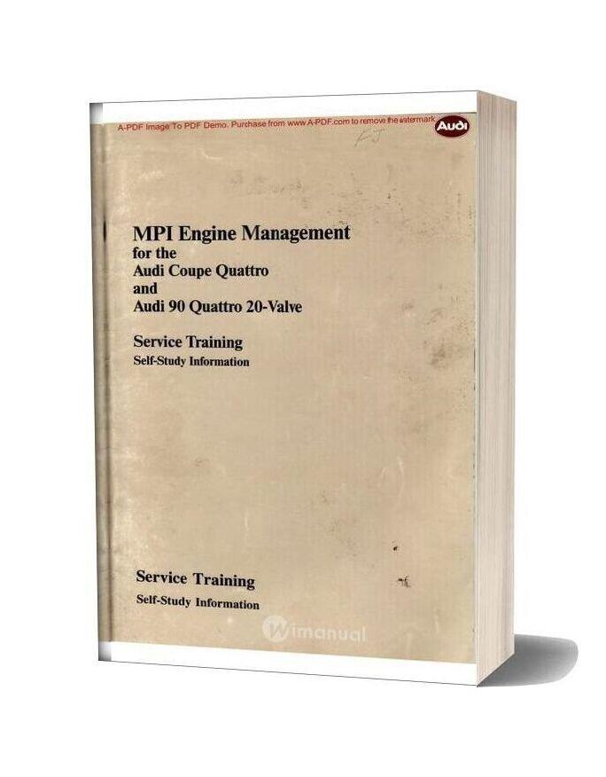 Audi Mpi Engine Management Service Training