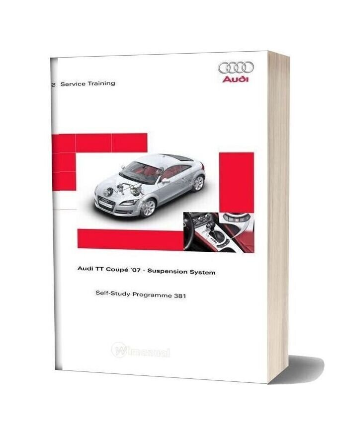 Audi Tt Coupe 2007 Chassis Service Training
