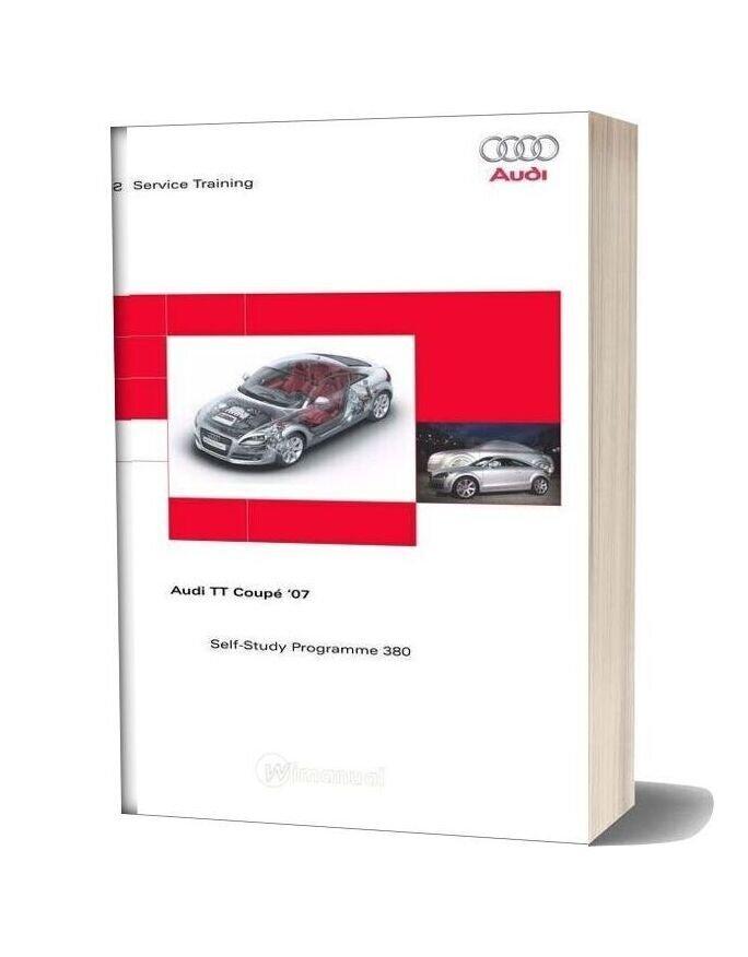 Audi Tt Coupe 2007 Service Training