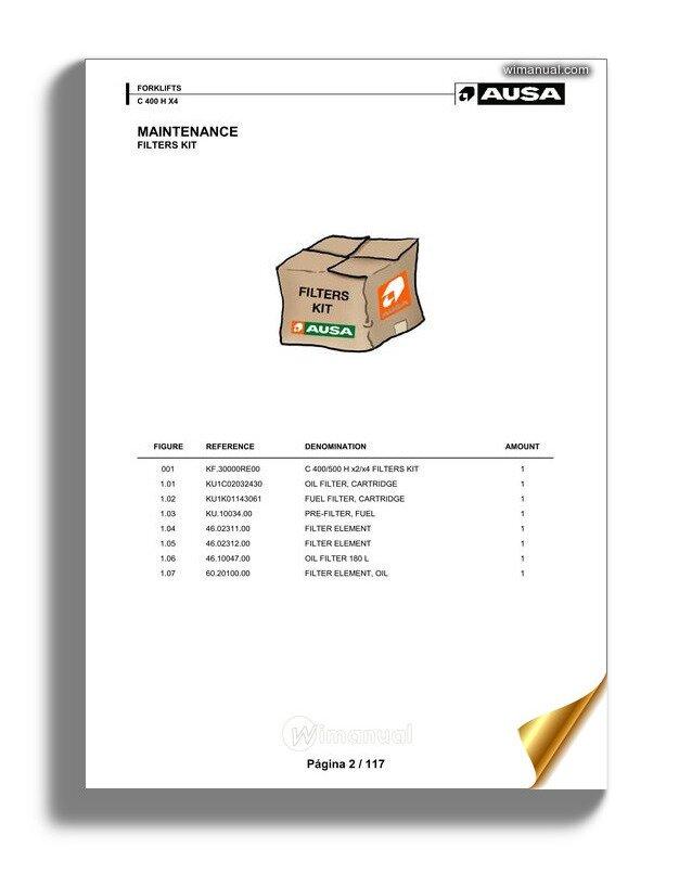 Ausa C 400 X X4 Parts Manual Katalog Delova