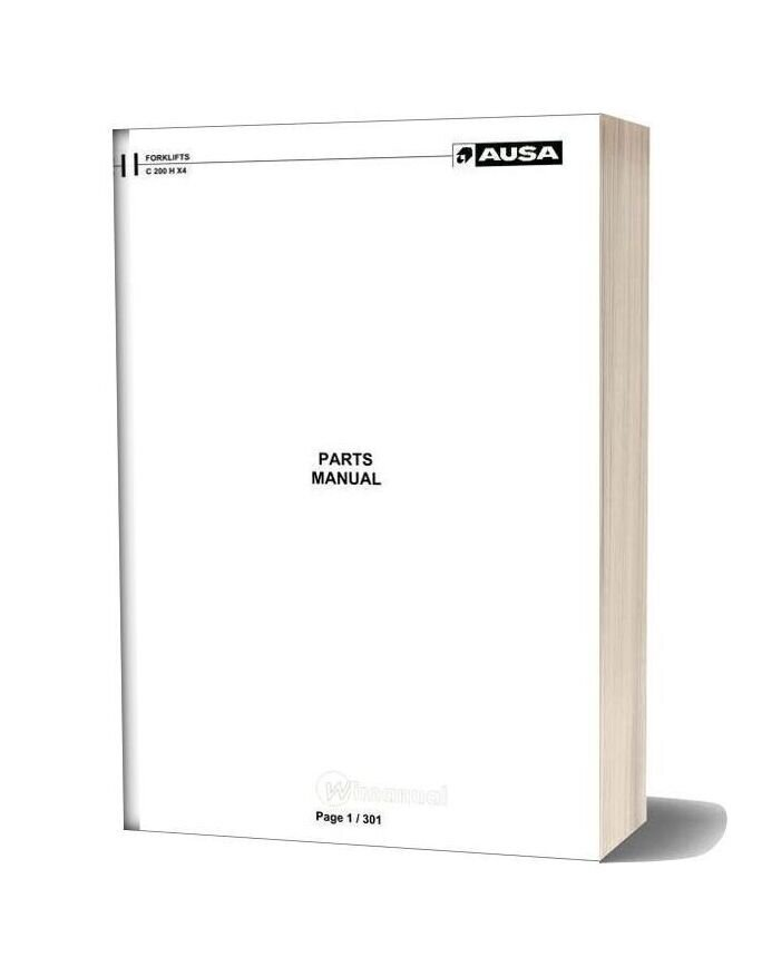 Ausa Forklift C200h X4 Parts Manual