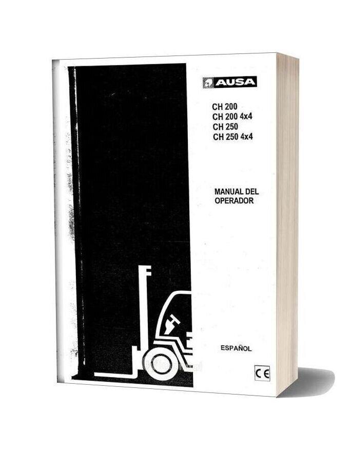 Ausa Forklift Ch200 250 Service Manual [Esp]
