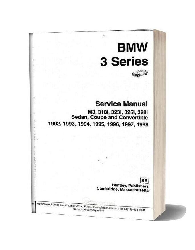 Bentley Bmw 3 Series E36 Service Manual