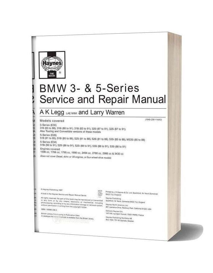 Bmw 3 5 Series Service And Repair Manual