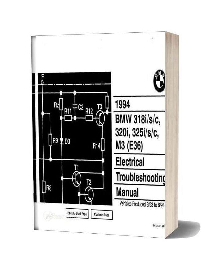 Bmw 318i S C 320i 325i S C 1994 Electrical Troubleshooting Manual