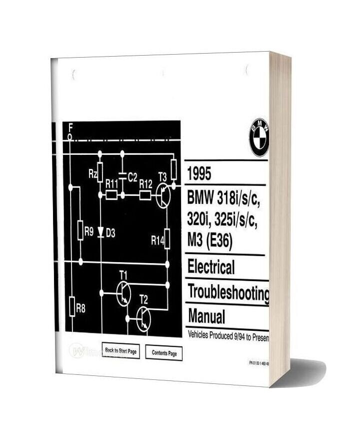 Bmw 318i S C 320i 325i S C 1995 Electrical Troubleshooting Manual
