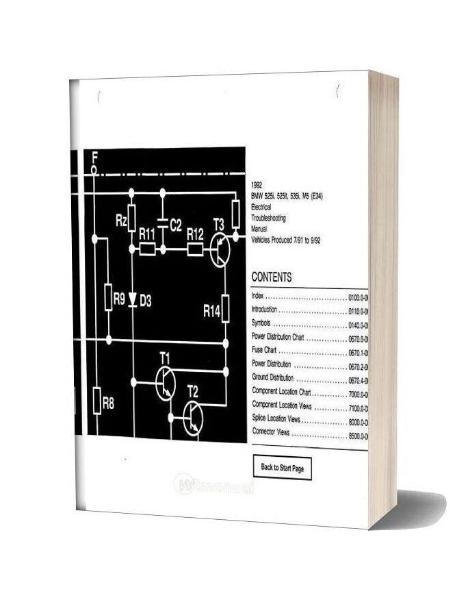 Bmw 525i 525it 535i M5 1992 Electrical Troubleshooting Manual