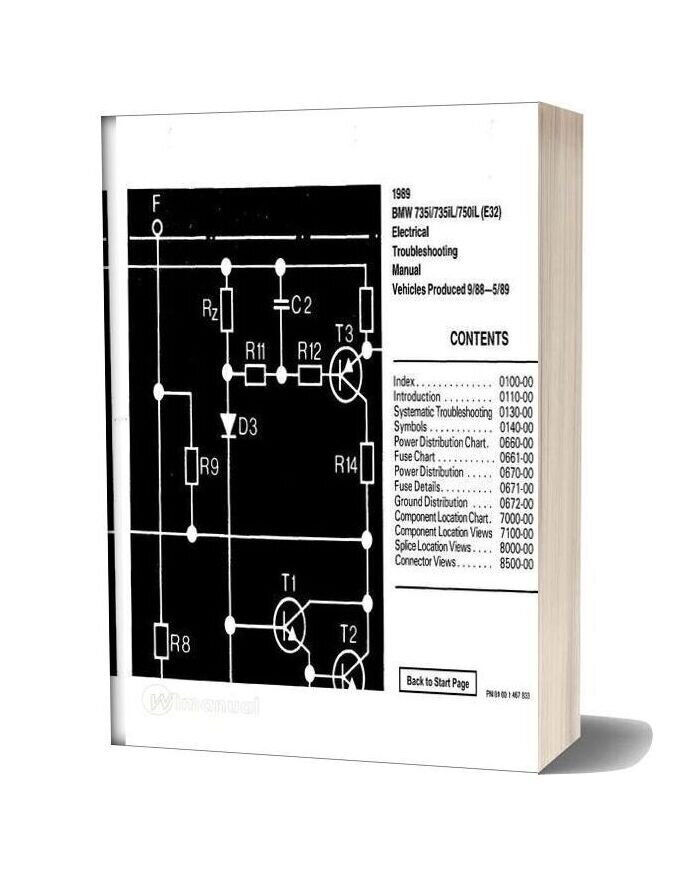 Bmw 735i 735il 750il 1989 Electrical Troubleshooting Manual