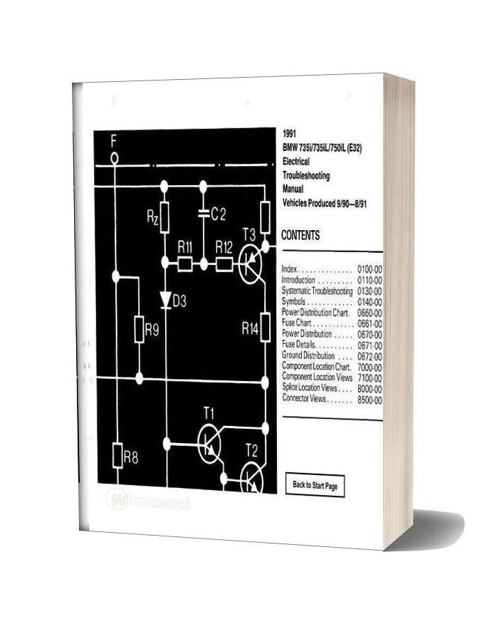 Bmw 735i 735il 750il 1991 Electrical Troubleshooting Manual