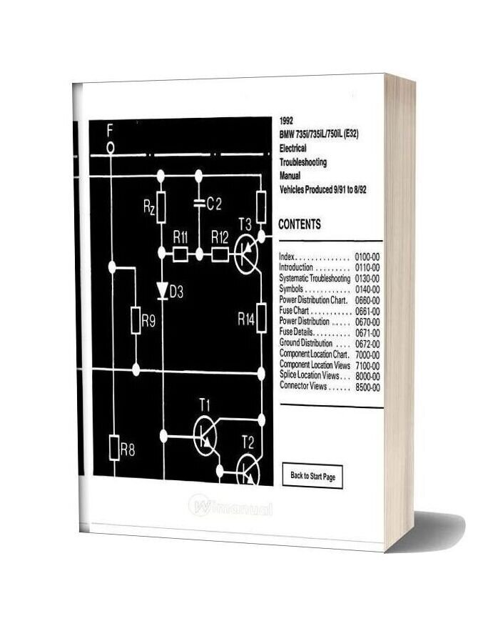 Bmw 735i 735il 750il 1992 Electrical Troubleshooting Manual