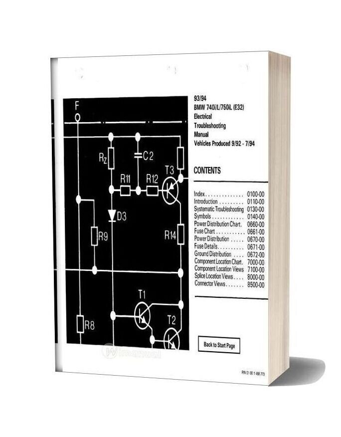 Bmw 740i 740il 750il 1993 Electrical Troubleshooting Manual