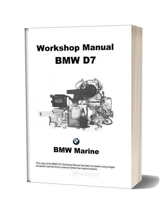 Bmw D Workshop Manual